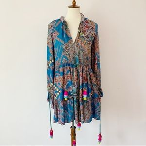 Anthro Hemant and Nandita Colorful Mini Dress